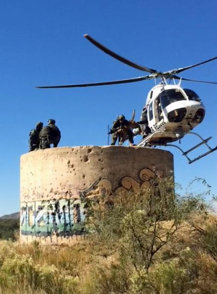 The Arizona Department of Public Safety trains along with elements from the Tucson Sector BORSTAR Team