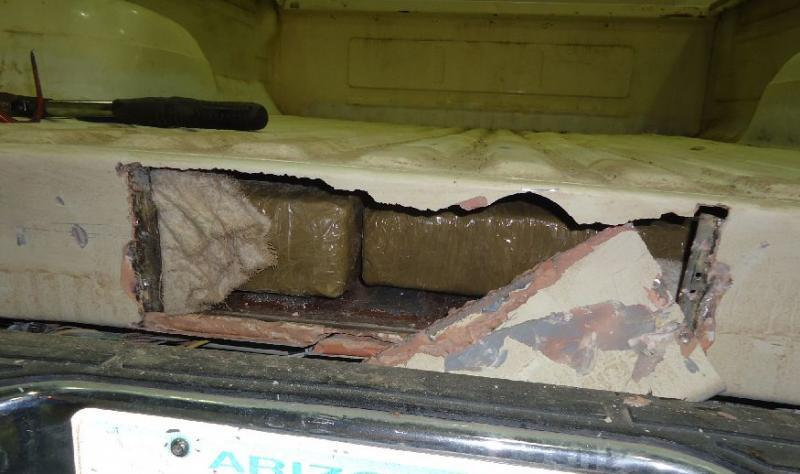 CBP officers at the Port of Douglas located and seized marijuana packages hidden within a hidden compartment within the smuggling vehicle truck bed.
