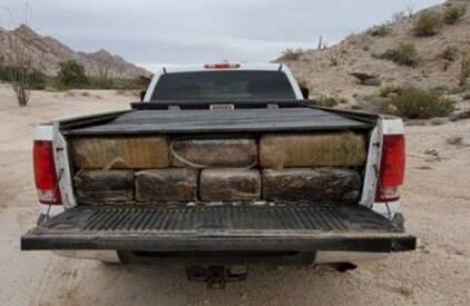 Border Patrol agents in Wellton, Arizona seized more than 1,500 pounds of marijuana from a truck they stopped before it escaled back into Mexico
