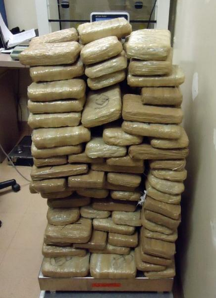 200 packages of marijuana removed from within a smuggling vehicle