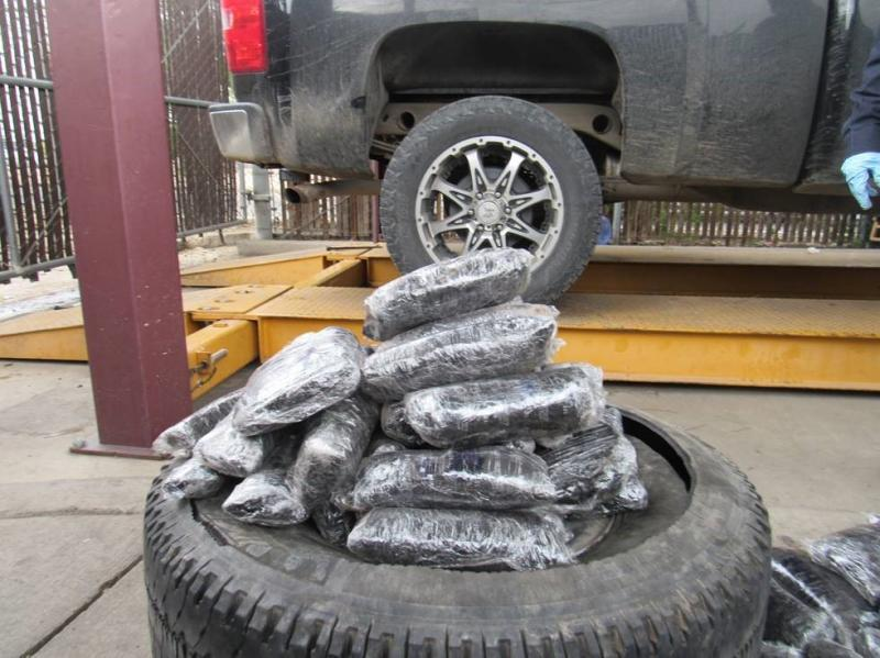Officers removed nearly $199K worth of meth from a spare tire