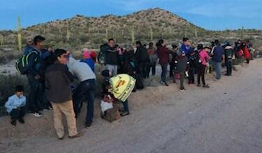 Agents apprehended a group of 80 near Lukeville, Arizona