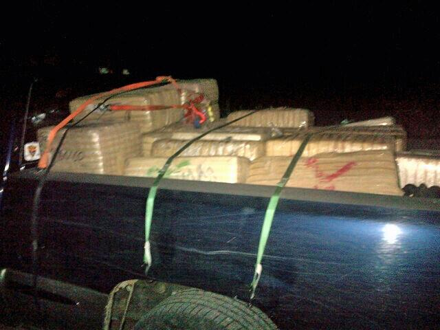 Nearly a ton of marijuana in back of pickup truck