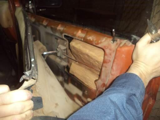 Drug smugglers attempted to hide marijuana packages inside of the door frames of a smuggling vehicle