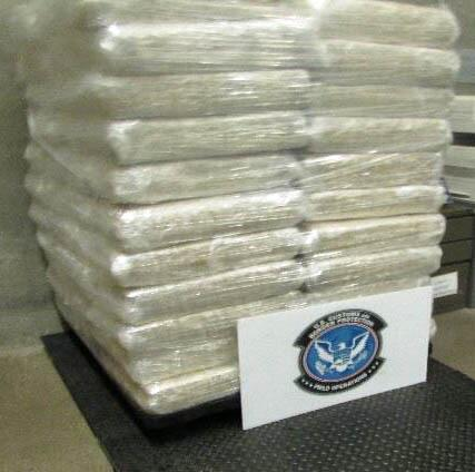 Nearly 250 bundles of marijuana were removed from a shipment of watermelons