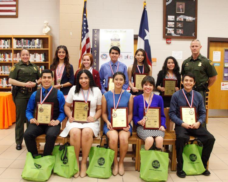 Border Patrol Youth of the Month Recipients