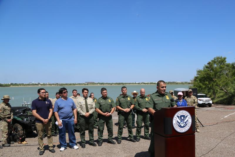 Laredo Sector Border Patrol Held a Demonstration and Media Guided Tour followed by A Press Conference highlighting dangers of illegally entering U.S.