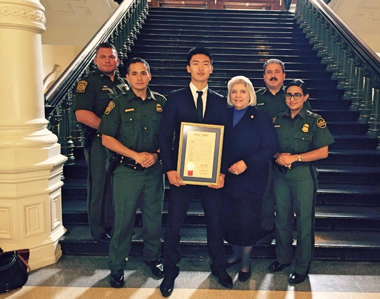 Tinglin Wu, Laredo Border Patrol Youth of the Year