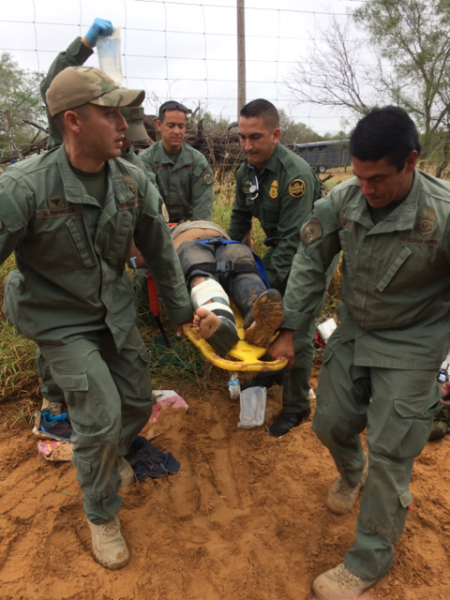 Border Patrol Rescues a Man in Distress