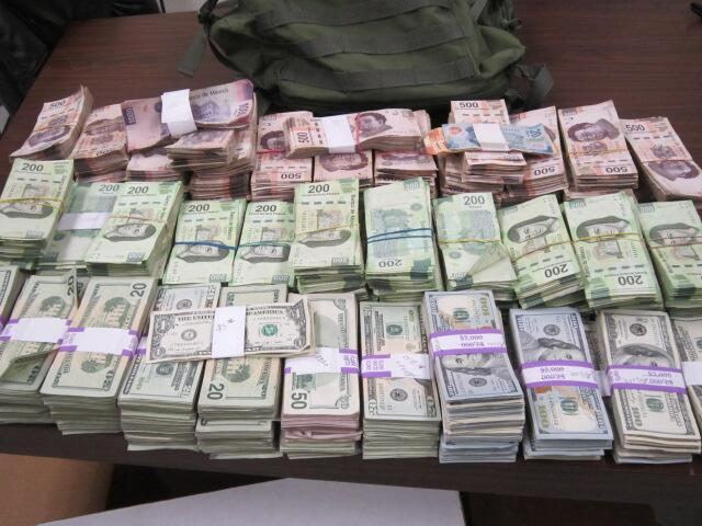 $650,000 in currency seized by Rio Grande Valley Sector Border Patrol agents.