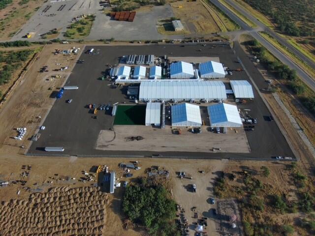 temporary processing facility in Laredo, Texas