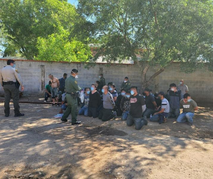 Border Patrol and Webb County Sheriff's Office Shutting Down Stash House