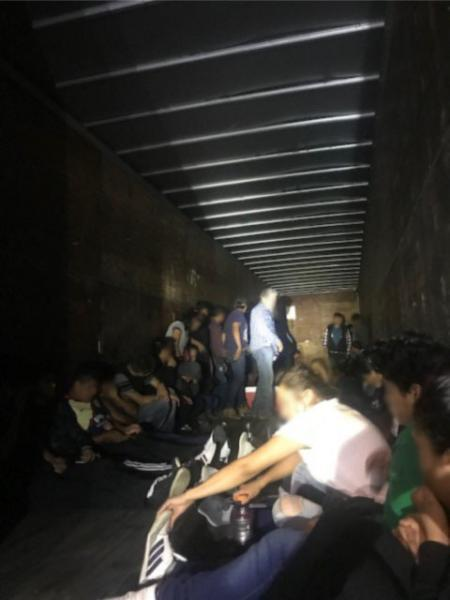 66 subjects locked in a tractor trailer were rescued by Border Patrol