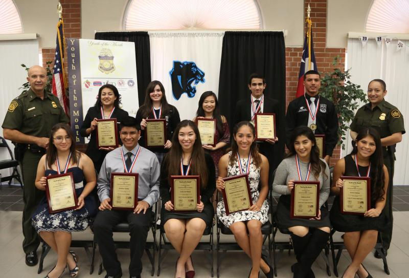 Laredo Sector Border Patrol Honors November's Youth of the Month