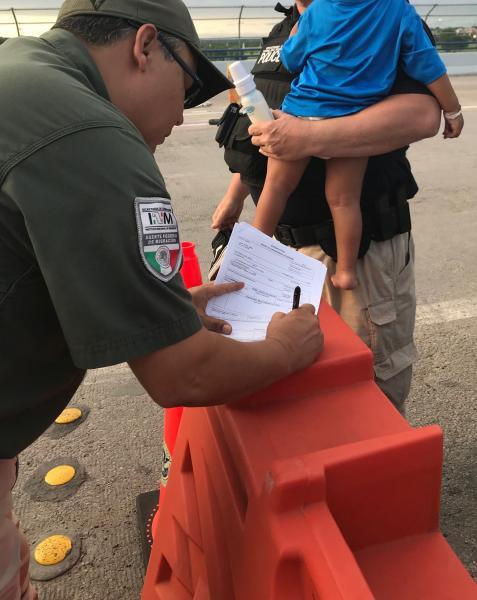 Agents coordinated with Mexican immigration officials to reunite the boy with his mother in Mexico.