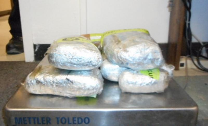 CBP officers at Eagle Pass, Texas discovered 13.86 pounds of marijuana hidden in a 2000 Mercedes Benz SUV, Thursday.