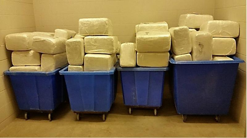 CBP officers at Del Rio Port of Entry seized 1,305 pounds, hidden in the shipment of silica sand.