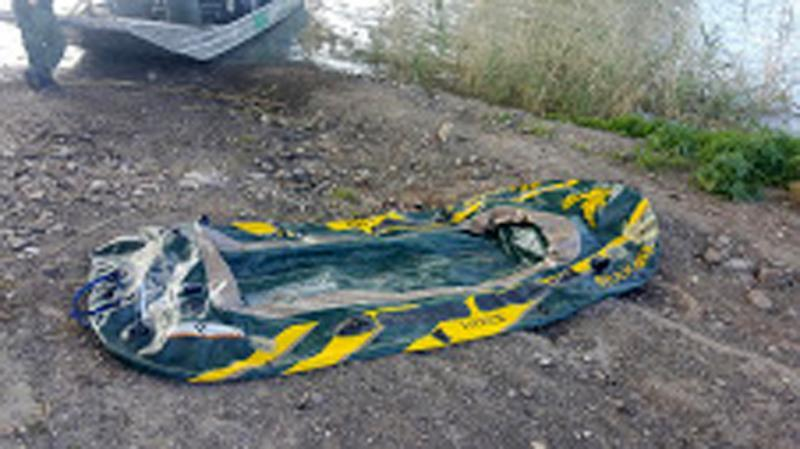 Border Patrol agents rescued a suspected smuggler after the raft he used for his escape lost bouyancy..