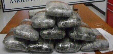 Officers seized a total of 24.21 pounds of methamphetamine.