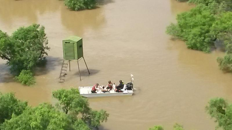 Del Rio Sector's BORSTAR team rescued three individuals stranded in flood waters, May 16.