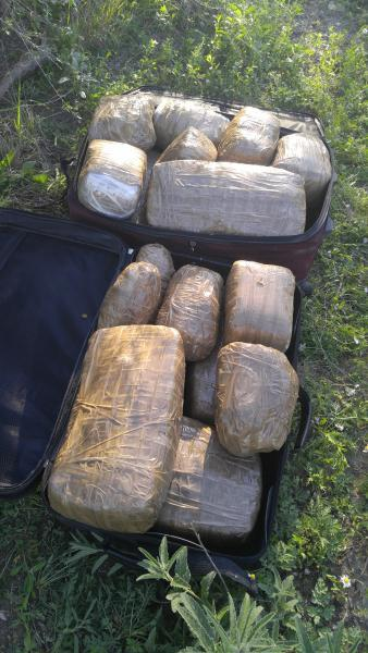 Eagle Pass Border Patrol agents encountered two abandoned black luggage bags, containing a total of 47 pounds of marijuana.