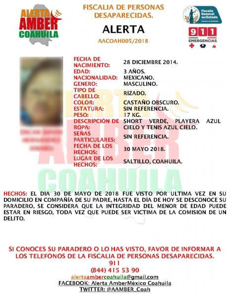 Amber Alert issued in Mexico.
