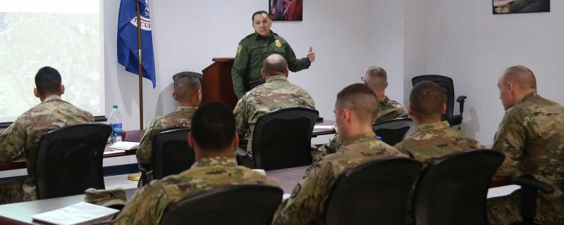 Del Rio Border Patrol Sector began briefing National Guard personnel deployed for Operation Guardian Support.