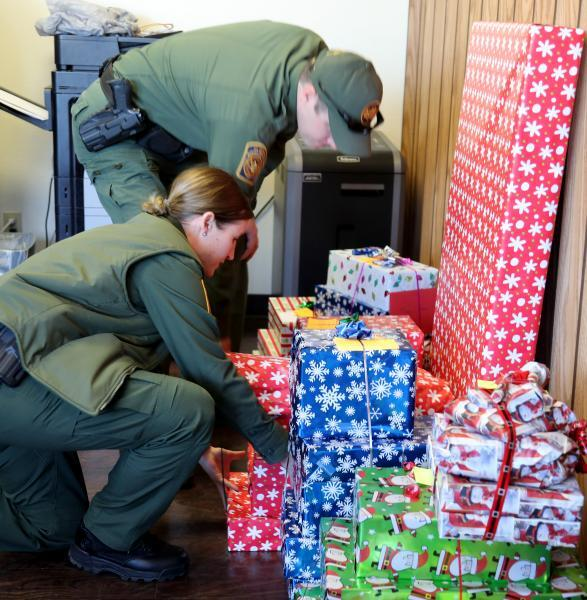 Del Rio Sector employees joined forces with local charities and donated hundreds of gifts.