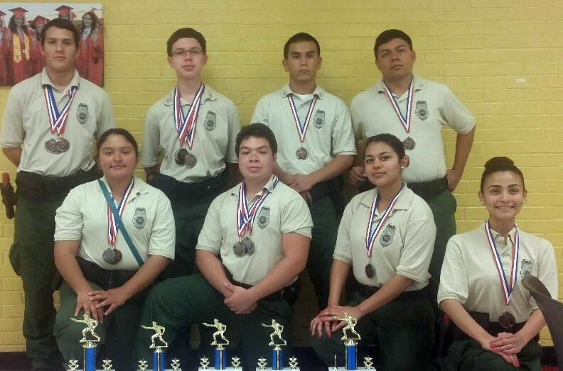 Del Rio Sector Border Patrol Explorers competed in the El Campo Police Department Law Enforcement Explorer Competition in El Campo.