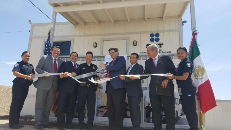 Representatives gathered in Laredo today to formally dedicate a processing building that will greatly help to facilitate CBP/SAT joint rail operations in Laredo.