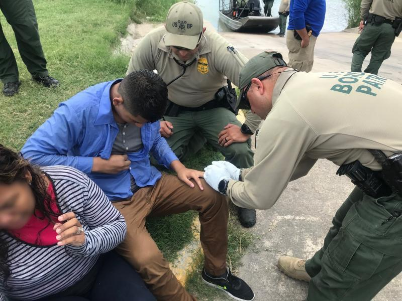 U.S. Border Patrol agents assigned to the Eagle Pass South Station marine unit saved the life of an undocumented immigrant teen.