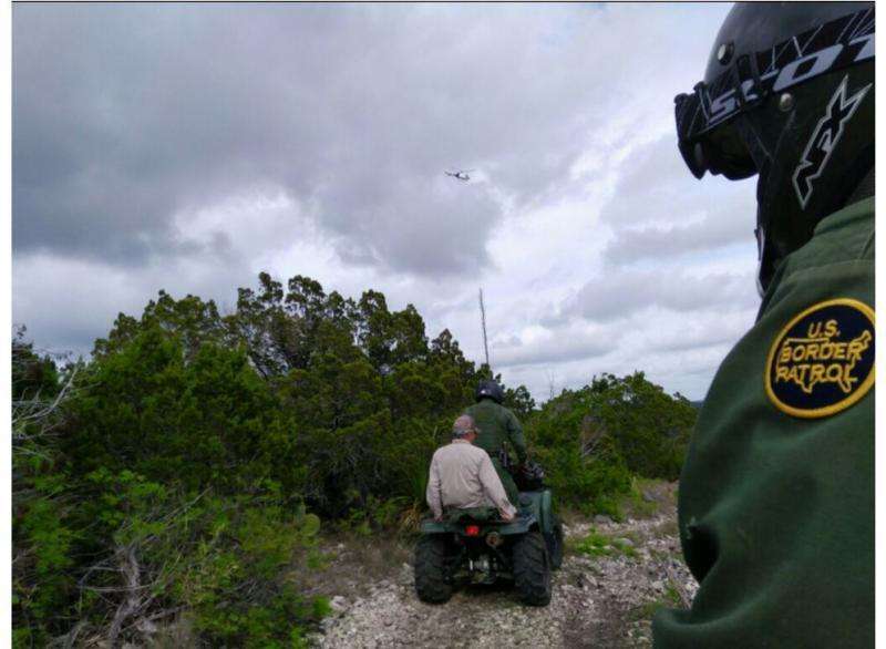 Border Patrol agents on all-terrain vehicles took the man to the helicopter.