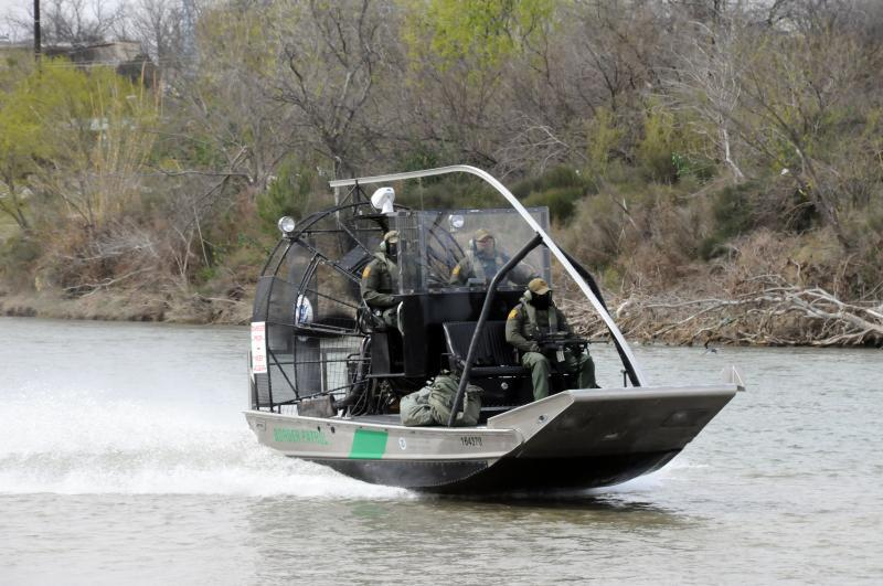 The Border Patrol Marine Unit agents quickly tossed a rescue line to the subject.
