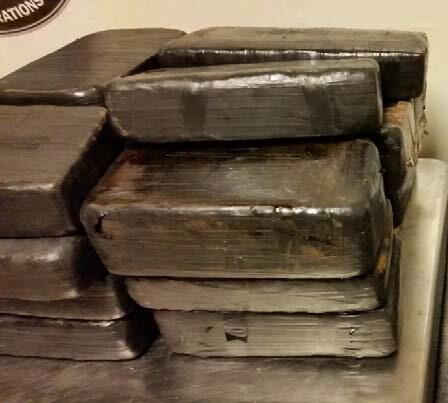 CBP officers discovered 20 packages hidden in the underside of the car.