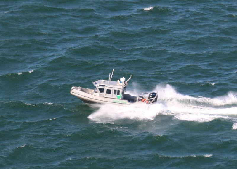 Lake Task Force Border Patrol agents, conducting maritime operations along Lake Amistad, encountered a male subject clinging to a buoy in the middle of the lake.
