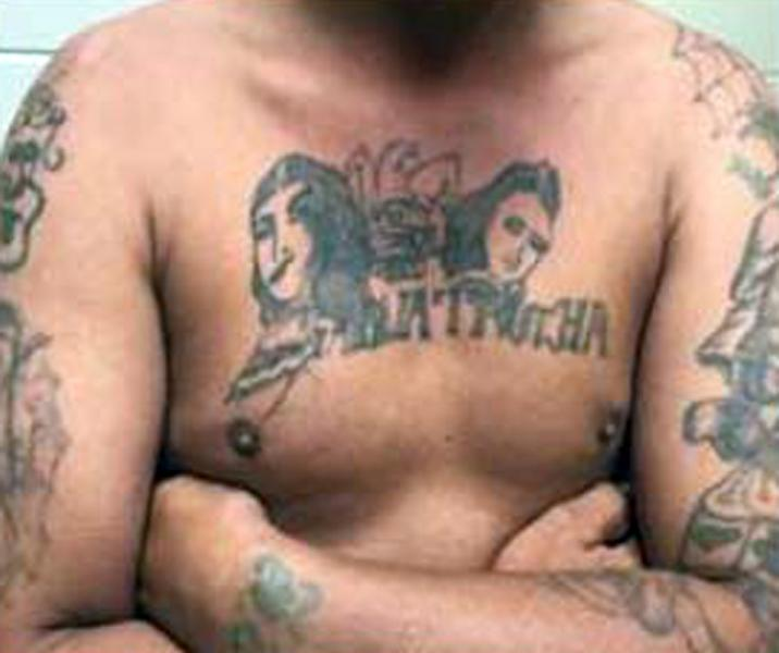 Agents discovered that the subject is a member of the MS-13 gang.