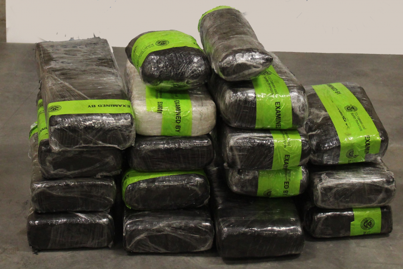 Packages containing 88 pounds of methamphetamine seized by CBP officers at Pharr International Bridge