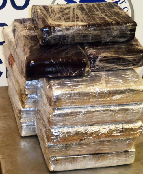 Packages containing nearly 21 pounds of cocaine seized by CBP officers at Hidalgo International Bridge