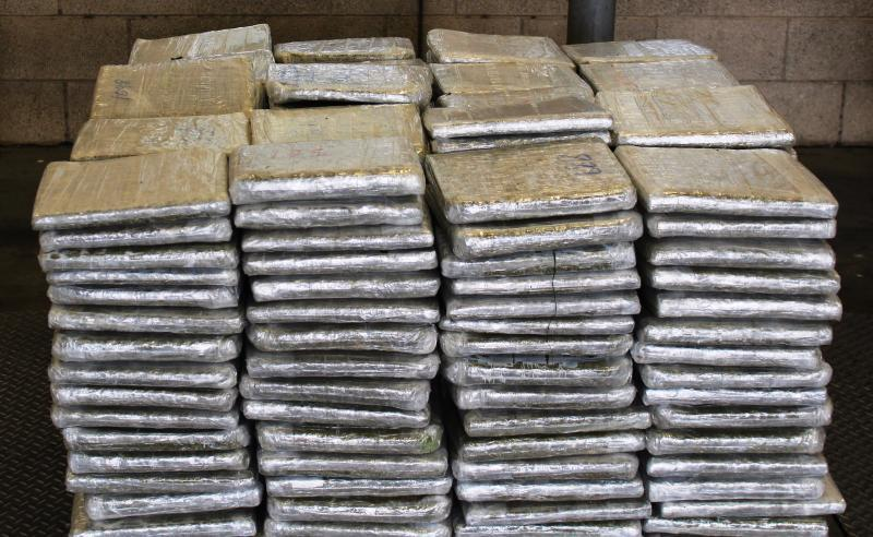 Packages containing 3,086 pounds of marijuana seized by CBP officers at Pharr International Bridge
