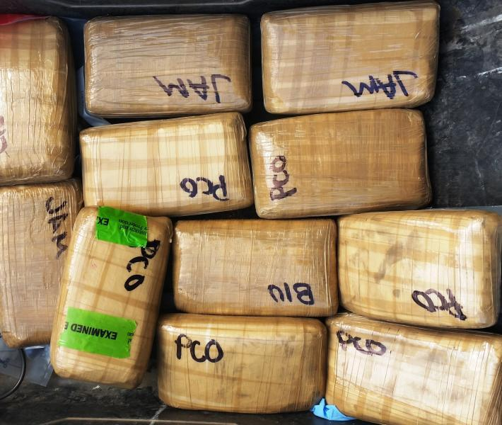 Packages containing nearly 28 pounds of cocaine seized by CBP officers at Pharr International Bridge
