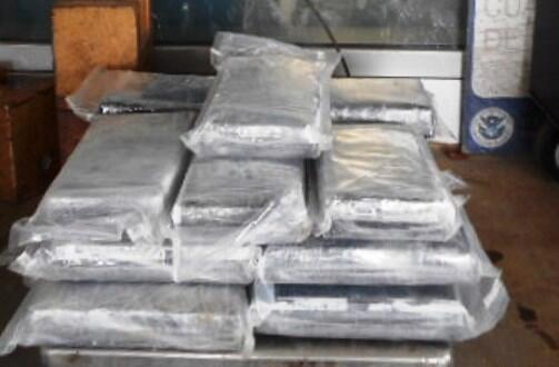 Packages containing 45 pounds of cocaine seized by CBP officers at Pharr International Bridge