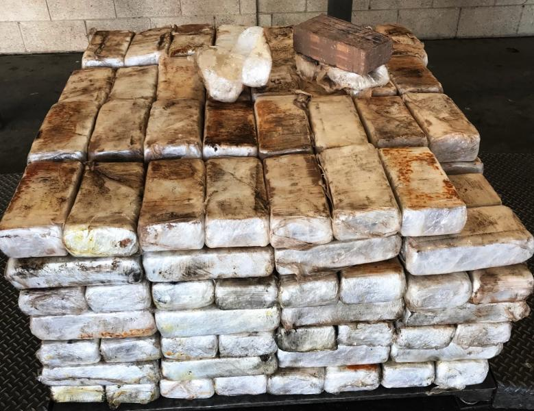 Packages containing 1,659 pounds of marijuana seized by CBP officers at Pharr International Bridge