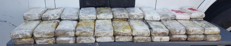 Packages containing $1.1 million in cocaine seized by CBP officers at Laredo Port of Entry