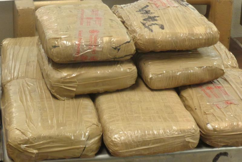 Packages containing 23.85 pounds of cocaine seized by CBP officers at Hidalgo International Bridge