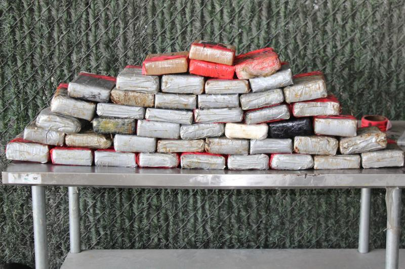 Packages containing more than 101 pounds of cocaine and nearly 10 pounds of fentanyl seized by CBP officers at World Trade Bridge