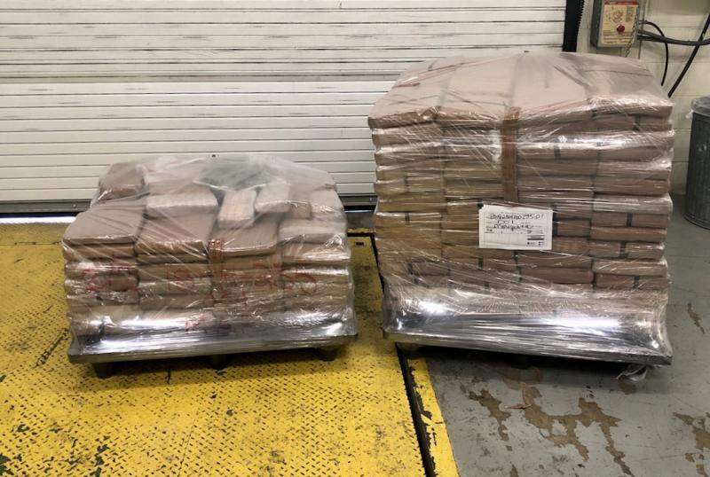 Packages containing 1,070 pounds of marijuana seized by CBP officers at World Trade Bridge