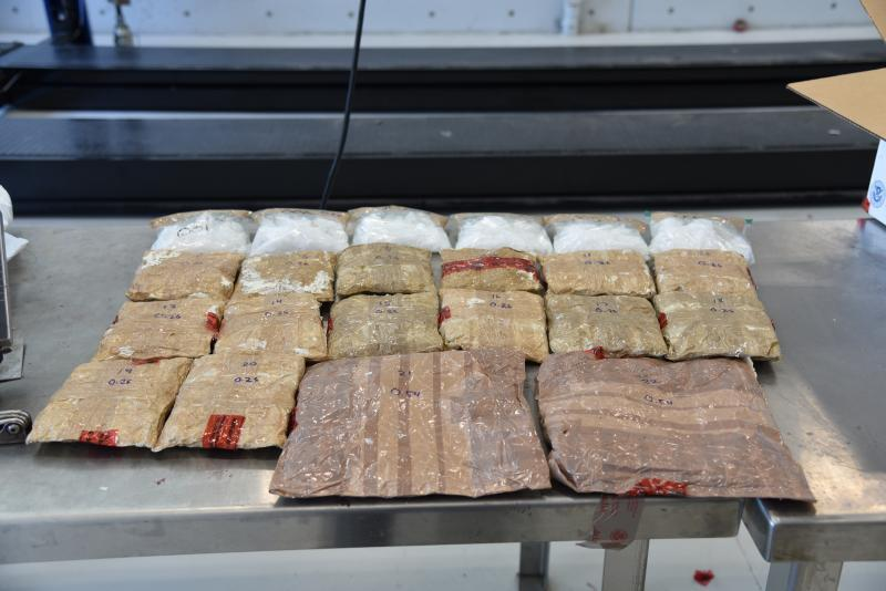 Packages containing nearly 14 pounds of methamphetamine seized by CBP officers at Laredo Port of Entry