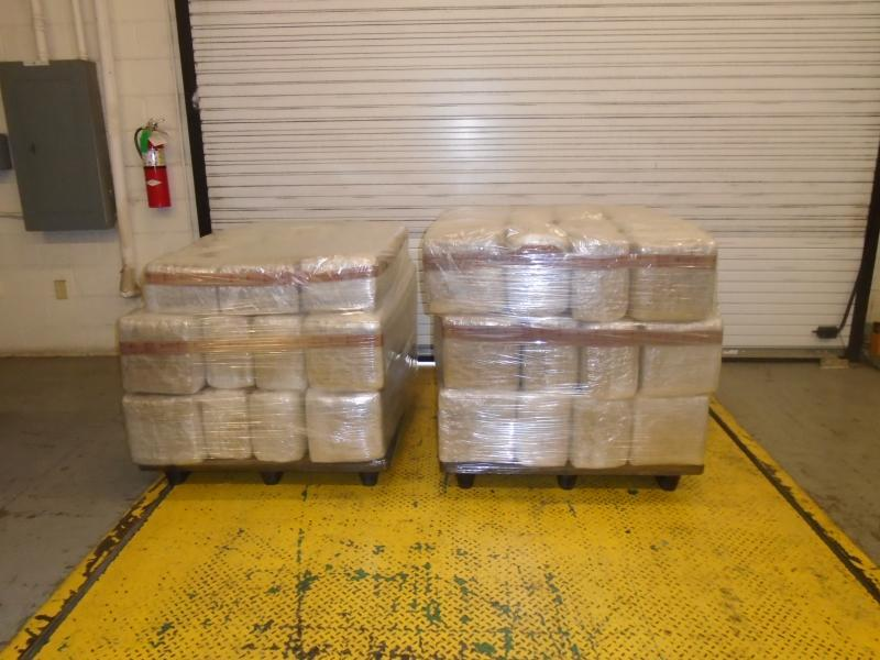 Packages containing 1,578 pounds of marijuana seized by CBP officers at World Trade Bridge