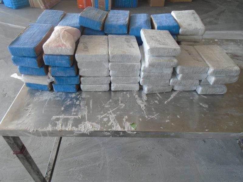 Packages containing 174 pounds of cocaine seized by CBP officers at World Trade Bridge