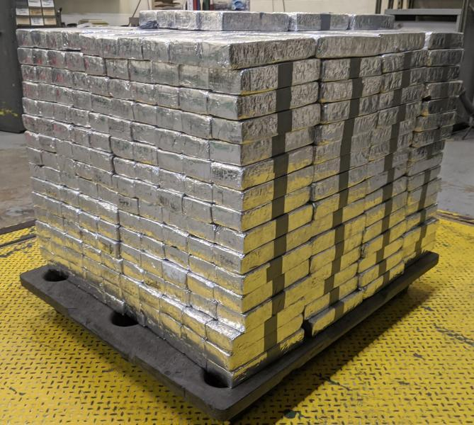 Packages containing 1,847 pounds of methamphetamine seized by CBP officers at Colombia-Solidarity Bridge